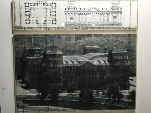 Christo & Jeanne Claude: Wrapped Reichstag, 1992. Tegninger.