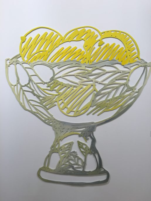 Tom Wesselmann: Compote with Lemons, 1988. Olie på stål.