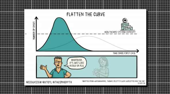 Flatten the f***ing curve!