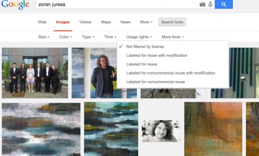 """Når man klikker på """"labeled for noncommercial reuse"""" forsvinder ALLE billederne..."""