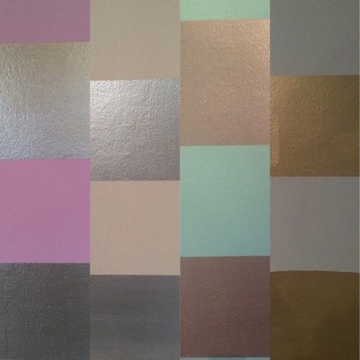 Sammenstilling af væggene i fire forskellige rum