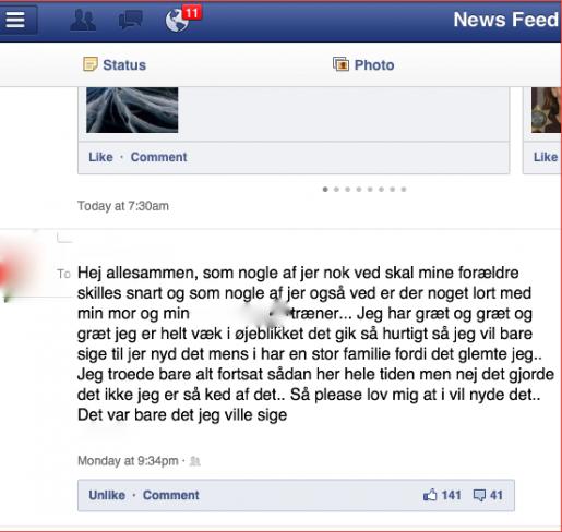 Facebookskilsmisseupdate