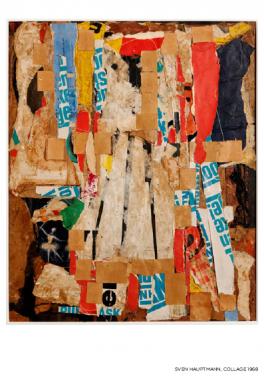 Sven Hauptmann: Collage, 1968 (galleri Banja Rathnov)